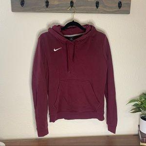 Maroon Nike Sweatshirt Hoodie Size Medium